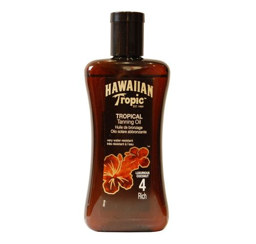 HAWAIIAN TROPIC BRONZING OIL 200ml FPS 4