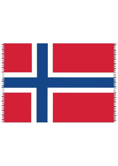 Pareo, Strandhandduk Nationsflagga Norway
