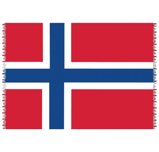 Brazilian beach towel - National flag Norway