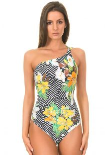 One-Piece Swimwear - ASYMMETRICAL MAILLOT MOCAW