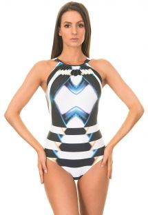 One-Piece Swimwear - MAILLOT NECKLACE AFRICA PALAIS