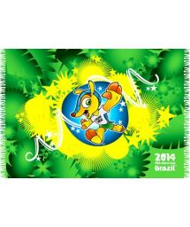 This design of this fashionable sarong is inhonour ofthe offical mascot of the 2014 Football World Cup - BANDEIRA MASCOTE