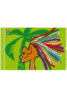 A fun and playful pareo with Brazilian ribbon pattern  - CANGA SENHOR CARTOON