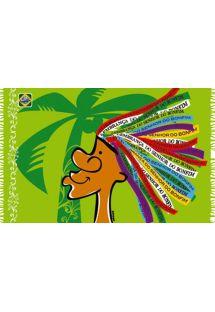 Paréo fun et ludique, motif rubans brésiliens - CANGA SENHOR CARTOON