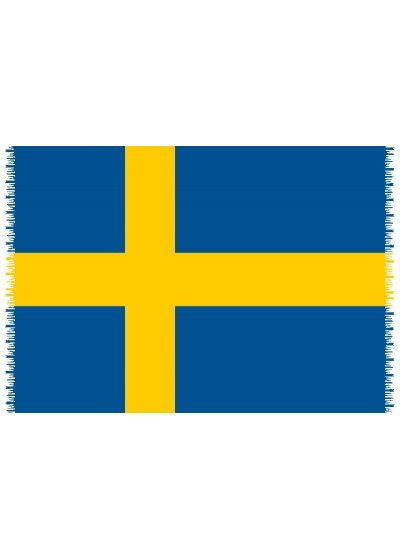 Pareo, Strandhandduk Nationsflagga Sweden