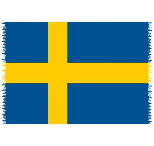 Pareo, Strandhåndkle - Flagg Sweden