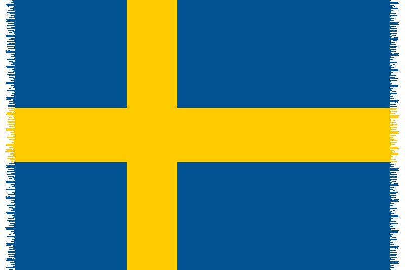 Brazilian beach towel - National flag Sweden