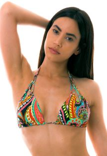 BBS X LULI FAMA - reversible colorful triangle bikini top - TOP RUMBA REVERSIBLE ZIG ZAG