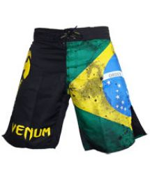 Men Swimwear - VENUM BRAZILIAN FLAG FIGHTSHORTS - BLACK