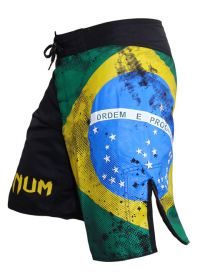 Men Swimwear - VENUM BRAZILIAN FLAG FIGHTSHORTS - BLACK