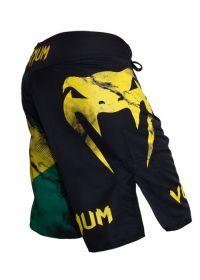 Badkläder för män - VENUM BRAZILIAN FLAG FIGHTSHORTS - BLACK