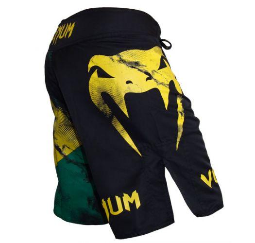 Pánské plavky - VENUM BRAZILIAN FLAG FIGHTSHORTS - BLACK