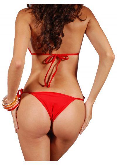 Röd, justerbar triangel Brazilian bikini - RED CORT LACINHO