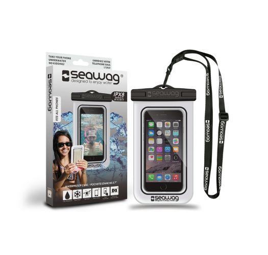 Waterproof case for smartphone BLACK / WHITE - WATERPROOF CASE BLACK WHITE