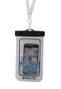 Waterdicht smartphonehoesje ZWART / WIT - WATERPROOF CASE BLACK WHITE