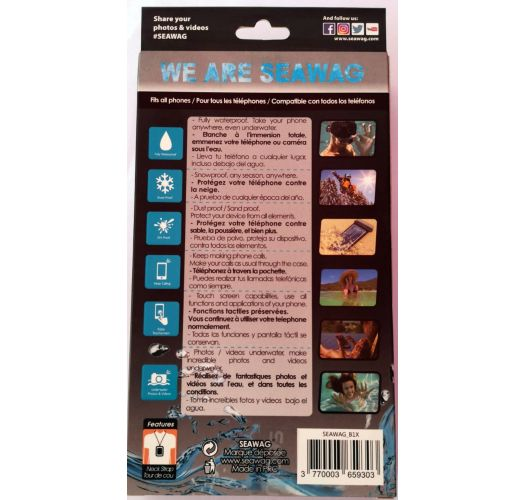 Vandtæt cover til smartphone SORT / HVID - WATERPROOF CASE BLACK WHITE