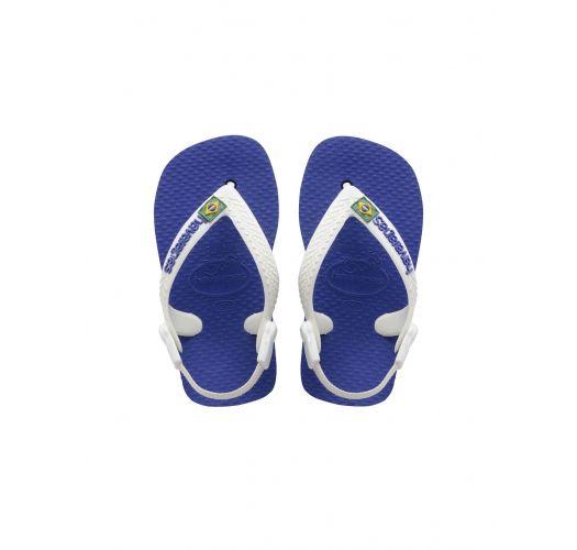 Flip-Flops - BABY BRASIL LOGO MARINE BLUE