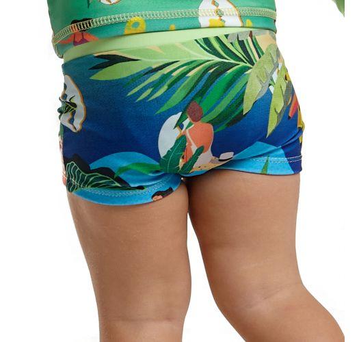 Colorful tropical baby boy swim trunks - BOTTOM JOHN MANGA LONGA BABY MARESIA