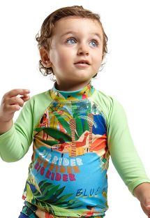 Top dla chłopca z długim rękawem w tropikalny wzór - TOP JOHN MANGA LONGA BABY MARESIA