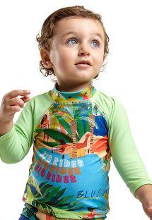 Baby boys top long-sleeved tropical rash guard - TOP JOHN MANGA LONGA BABY MARESIA