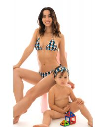Baby girl colorful geometric swim nappy and head band - GEOMETRIC BABY