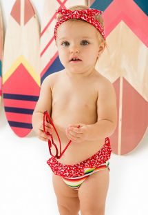 Baby girl's swimsuit with a mixture of prints - BABY BABADO HOLIDAY