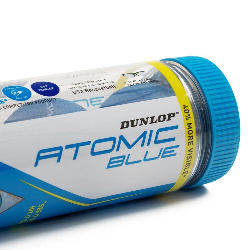 Dunlop Atomic Racquetball - Kit of 3 Balls - ATOMIC BLUE