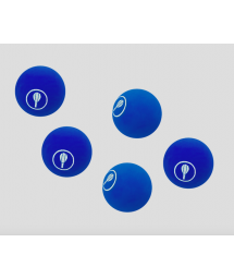 5 BAT BALLS BLUE