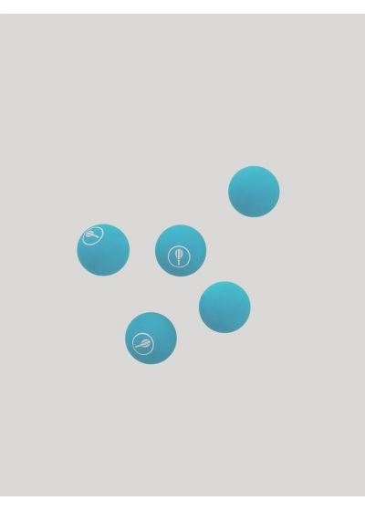 5 BAT BALLS SKY BLUE