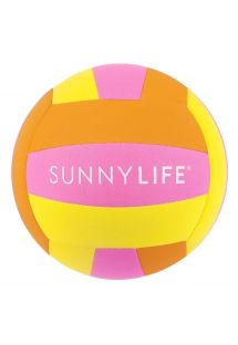 Ballon de plage tricolore fluo - BEACH BALL NEON