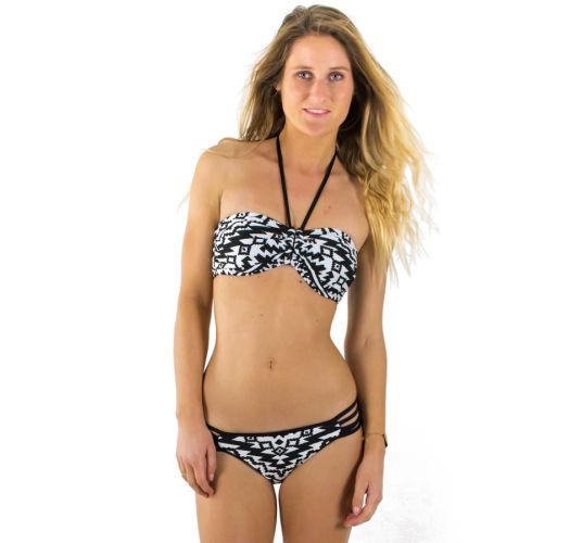 BANDEAU BLACK AND WHITE KASBAH SEAFOLLY