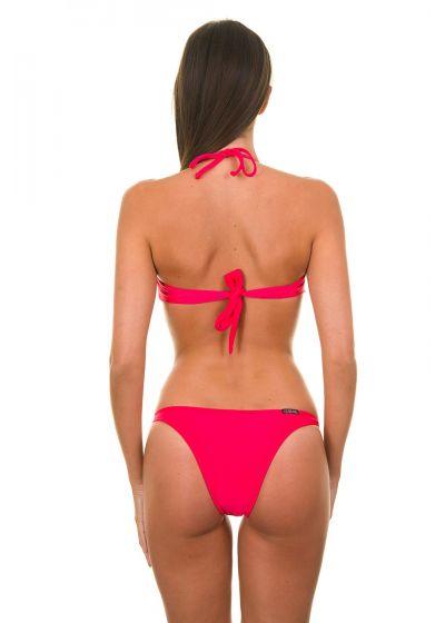 Korallfärgad bandeau bikini - FRUTILLY TORCIDO TRIO