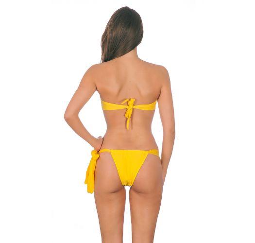 Maillot de bain bandeau jaune à coques - IPE TORCIDO LACE