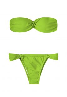 Bikini tipo diadema con copas verde claro - JUREIA TORCIDO SUMO