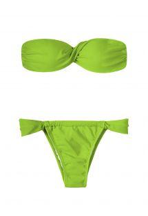 Bikini bandeau à coques vert clair - JUREIA TORCIDO SUMO