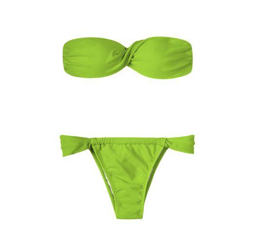 Light green bandeau bikini - JUREIA TORCIDO SUMO