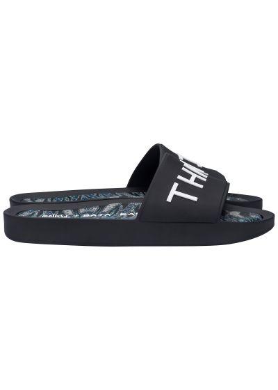 Flip-Flops Melissa Beach Slide + Baja East Ad Black/white Slipper