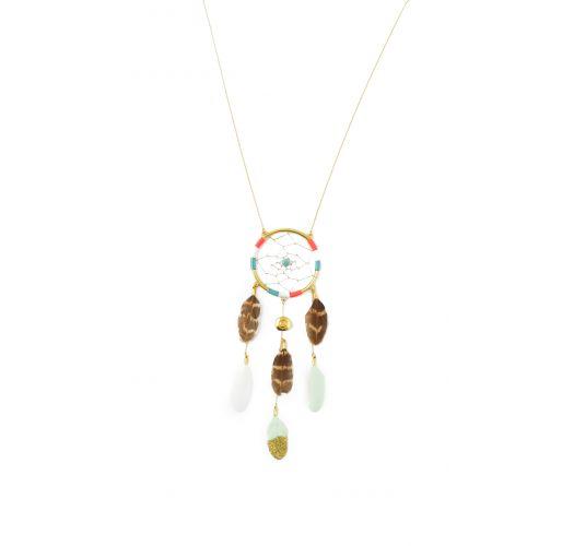 Hipanema dreamcatcher gold-plated pendant necklace - HIPANEMA SALOME GOLD
