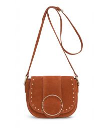 Suede bag with strap and gold buckle - SAILOR RUST