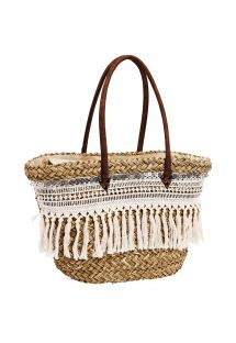 Straw basket, plats and metal accessories - SIDONI