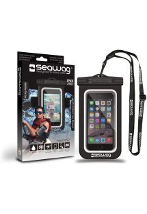 Waterproof pouch for all smartphones with armband - SEAWAG BLACK WATERPROOF CASE ARMBAND