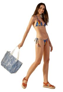Beach bag with blue print - BOLSA KAKA COCARDE