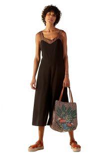 Tropical & ethnic print beach bag - BOLSA PACIFICO GAYA