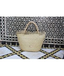 Luxury woven basket in natural fibre - MIJEK