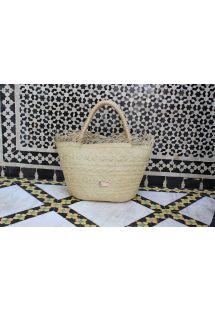 Luxury woven basket in natural fibre - MIJEK
