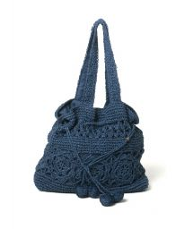Navy crochet bag - NAVY CROCHET BAG