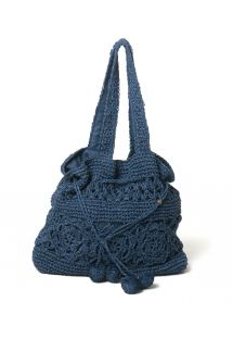 NAVY CROCHET BAG