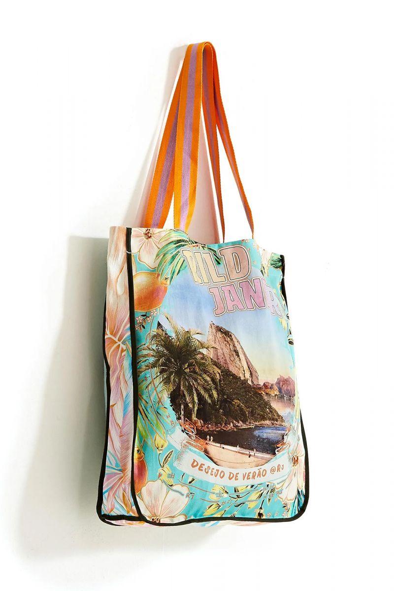Big beach bag Rio de Janeiro / flowers - BOLSA RIO DE JANIERO