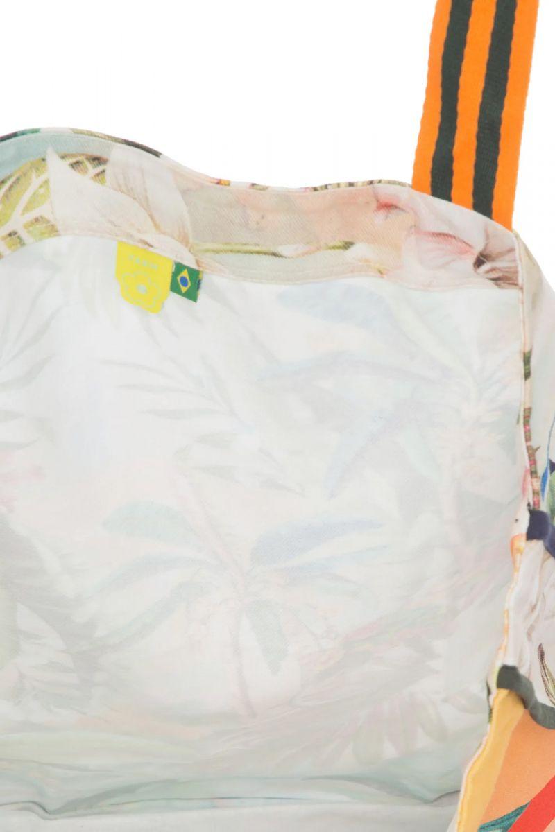 Big beach bag toucan / tropical print - BOLSA TUCANO MULTICOLORIDO