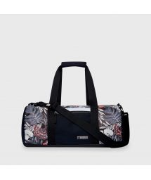 Black waterproof sports / travel bag in tropical print - DRY DUFFEL MID-NIGHT BLACK